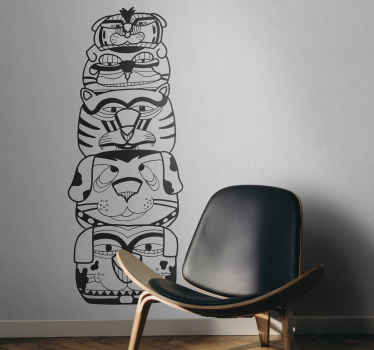 Indian Totem Wall Sticker