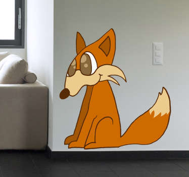 Fuchs Zeichnung Aufkleber