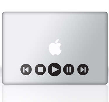 Multimedia Laptop Sticker