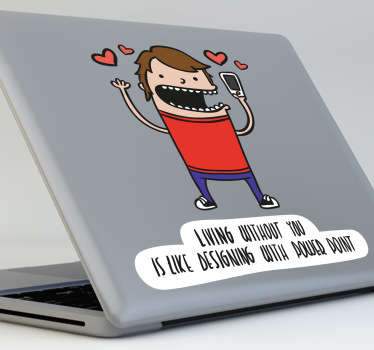 Laptop Stickers - Funny illustration for designers who are not a fan of Microsoft Office when it comes to designing