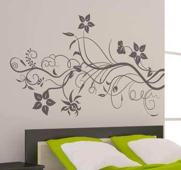 Murgröna blommiga väggdekal