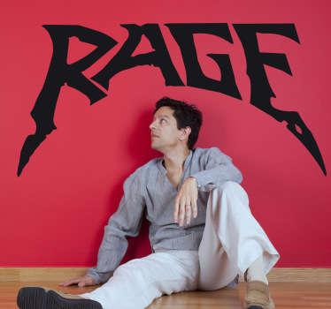 Autocollant mural logo Rage