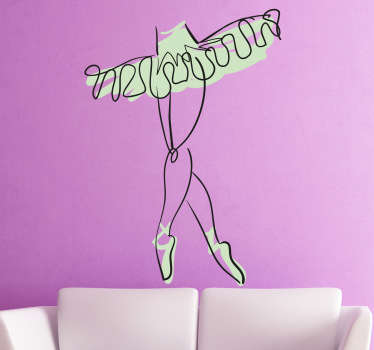 Autocollant mural croquis jambes danseuse