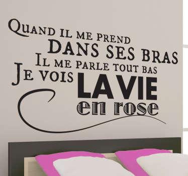 Stencil muro Edith Piaf