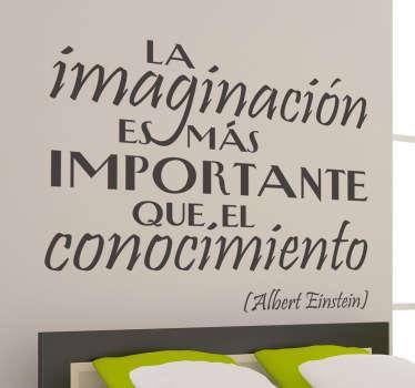 Vinilo decorativo imaginación Einstein