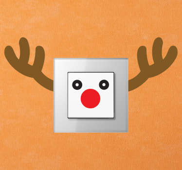 Rudolph Reindeer Light Switch Sticker