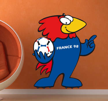Stencil muro mascotte France 98