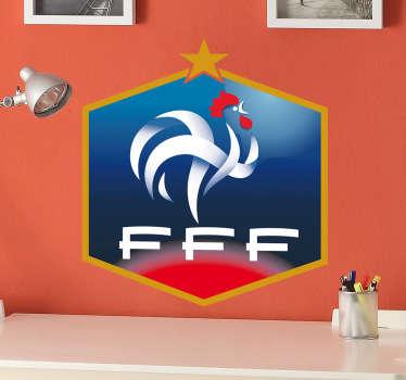 Le célèbre logo de la Fédération Française de Football sur sticker pour personnaliser la chambre des footeux.
