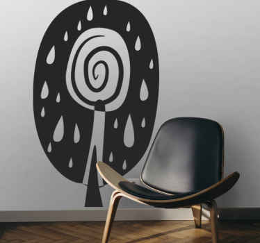 Room Sticker - African cultural theme floral design of a tree.Ideal original decals for decorating your home.