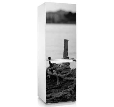 Kühlschrank Aufkleber Seil am See