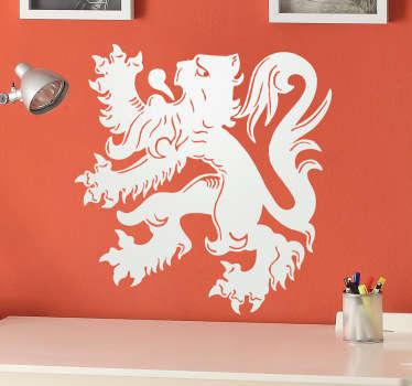 Muursticker van de originele Belgische leeuw! Te bestellen in het formaat dat jij wilt en ook in de kleur dat jij wilt!