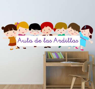 Personalizza la tua classe o la cameretta del tuo bambino con questo originale sticker bambini colorato e divertente!