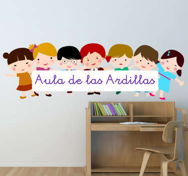 Vinilo personalizable niños aula
