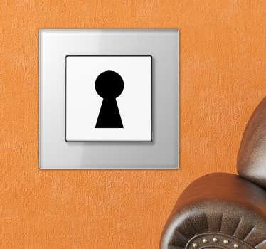 Naklejka na włącznik światła dziurka od klucza