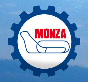 Sticker decorativo logo circuito monza