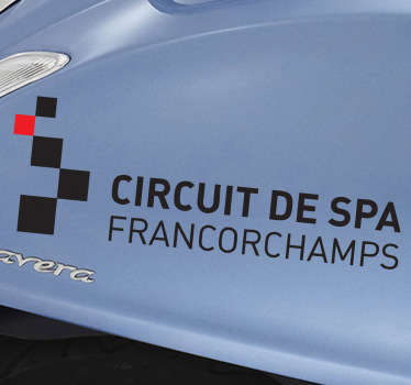 Spa Francorchamps Circuit Sport Sticker