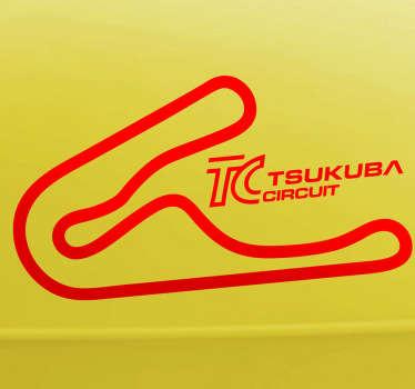 Sticker decorativo circuito di Tsukuba