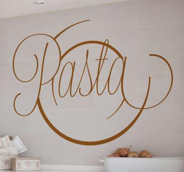 Sticker cuisine pasta