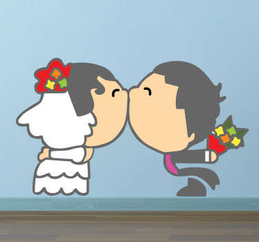 Pegatina decorativa pareja boda