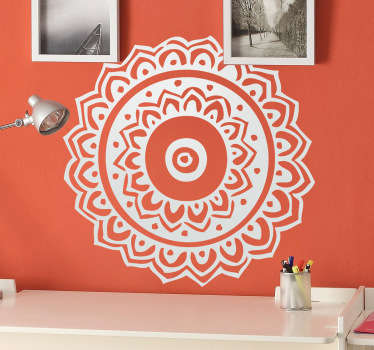 Decals - Floral mandala illustration. Available in various sizes and in 50 colours. Wall stickers.