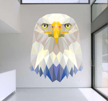 Vinil Decorativo Águia Retrato Geometrico