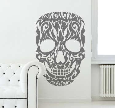 Tribal Skull Mask Wall Sticker