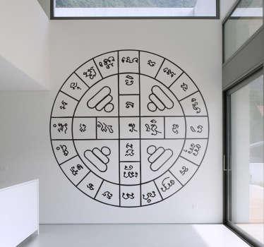 Naklejka na ścianę azjatycki, geometryczny wzór