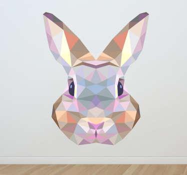 幾何学的なウサギのデカール