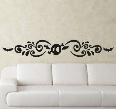 This skull sticker will make your wall a very attractive one during this Halloween!