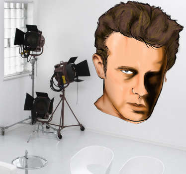 Sticker decorativo disegno James Dean