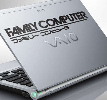 Vinilo decorativo family computer