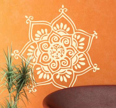 Seven Petal Flower Wall Decal