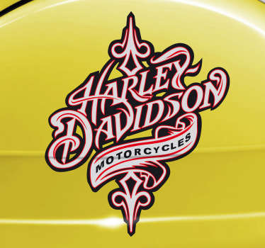 Deze sticker omtrent een logo van Harley Davidson Motorcycles. Prachtig voor grote fans van Harley Davidson!