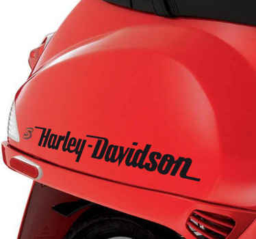 Sticker texte Harley