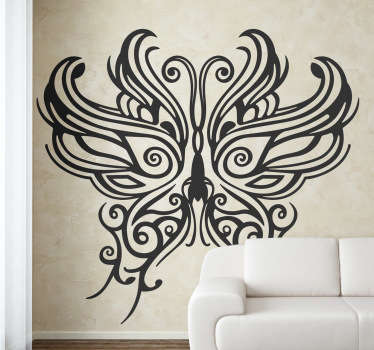 Tribal Butterfly Mask Decal