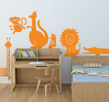 Kids Wall Stickers - Turn the bedroom walls into a jungle with this collection of animal stickers.