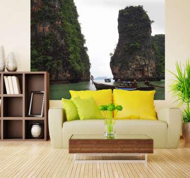 Fotomurale d'autore che ritrae uno spettacolare scorcio di natura thailandese. Una decorazione ideale per decorare il soggiorno o la camera da letto.