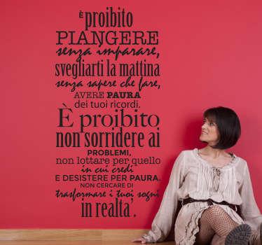 Sticker decorativo Proibito Neruda