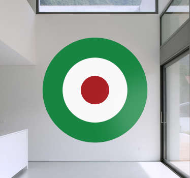 Sticker decorativo cerchio tricolore