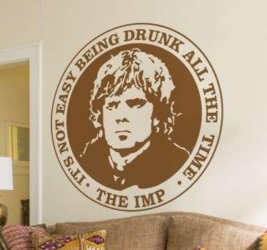 Stencil muro simbolo Tyrion