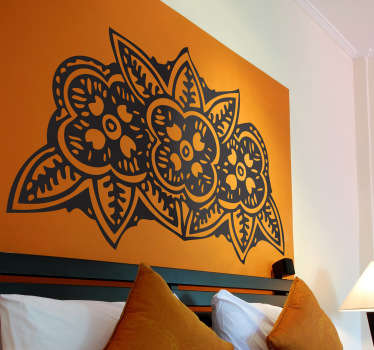 Three Indian Flowers Decal