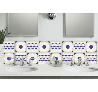 This Spanish tile design is perfect for adding decoration to your kitchen or bathroom. The Spanish Wall tile sticker create a nautical atmosphere.