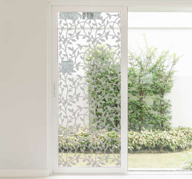 Vinilo decorativo ideal para vidrios, ventanales, mamparas de baño o puertas de cristal. Le dará un toque elegante a cualquier estancia.