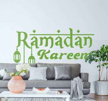 Islam Religion location sticker. Happy Ramadan text  design for a Islam believer. Easy to apply and available in different sizes.
