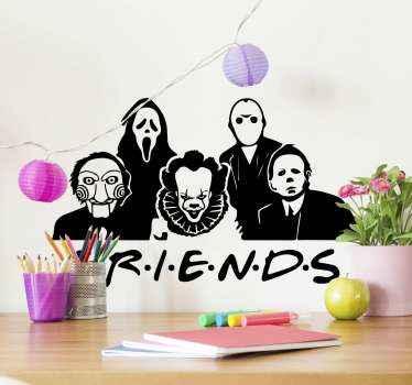 ¿Has visto la serie 'Friends'? Si sí, puedes decorar tu hogar con la versión Halloween con este vinilo Halloween ¡Envío a domicilio!