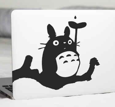 Cartoon dier op tak laptop sticker een leuk ontwerp om een laptop te versieren. Verkrijgbaar in verschillende maten en kleuropties.