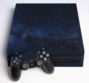 Decorative space theme decal for ps4. The design is amazing and it is available for all version of ps4 device. Made of high quality and easy to apply.
