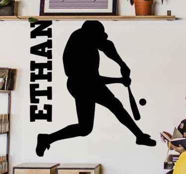 Autocollant personnalisé de joueur de batteur de cricket de nom,  appropriée pour les passionné du cricket.