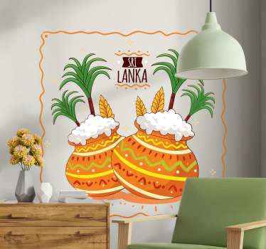 Do you love ethical design? If yes this Sri lanka famous motif wall sticker would serve your desire especially if you are from Sri Lanka.