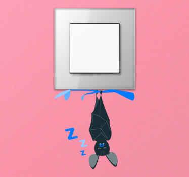 Okrasna črna nalepka za palico za stikalo za luč, ki označuje položaj za izklop ali vklop stikala za luči. Iz visoko kakovostnega vinila in enostaven za nanašanje.